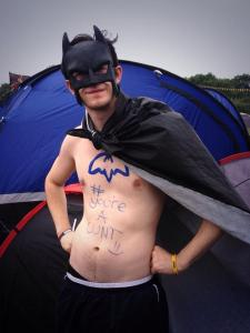 See, I told you I camped with Batman!